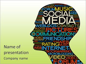 Social Media Plantillas de Presentaciones PowerPoint