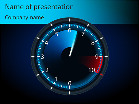 car speedometer powerpoint template & backgrounds id 0000007107, Powerpoint templates