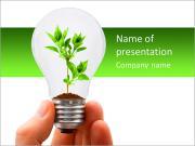 Завод в лампочке Шаблоны презентаций PowerPoint