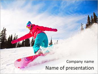 Snowboard PowerPoint Template