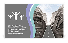 Direct Way Business Card Template