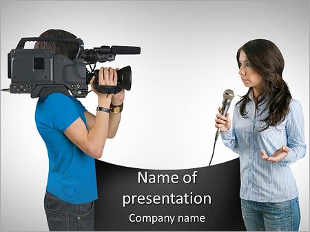 Journalist powerpoint template smiletemplates tv reporter powerpoint template toneelgroepblik Choice Image