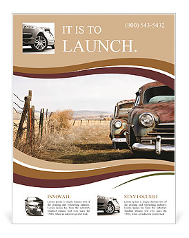 retro car flyer template design id 0000007137 smiletemplates com