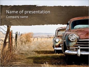 Rétro voiture Modèles des présentations  PowerPoint