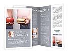 Apple Vs Burger Brochure Templates