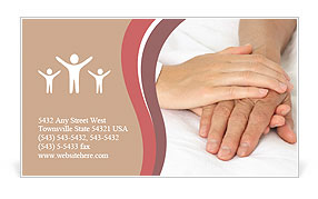 Supportive Hand Business Card Templates