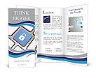 Lock Button Brochure Templates