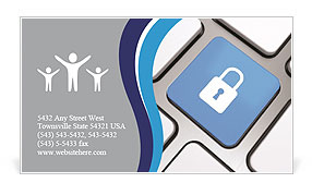 Lock Button Business Card Template