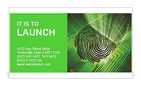 Scan Fingerprint Business Card Template