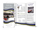 Crowd At Airport Brochure Template