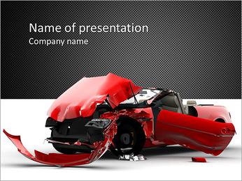 Car Crash Modèles des présentations  PowerPoint