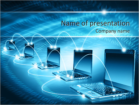 network powerpoint template & backgrounds id 0000007163, Modern powerpoint
