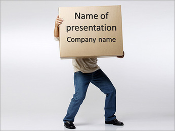 Heavy Parcel PowerPoint Template