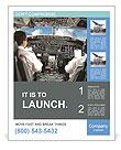 Plane Pilot Poster Template