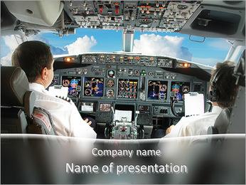 飛行機のパイロット PowerPointプレゼンテーションのテンプレート