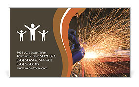 Welding Business Card Template