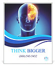 Left Part Of Brain Poster Template