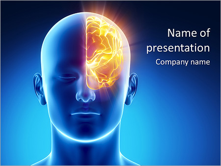 Left Part Of Brain Powerpoint Template  Backgrounds Id