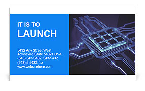 Built–In Chip Business Card Templates