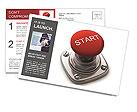 Stop Lever Postcard Template