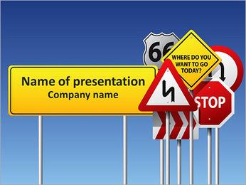 Stop Driving Sing Sjablonen PowerPoint presentatie