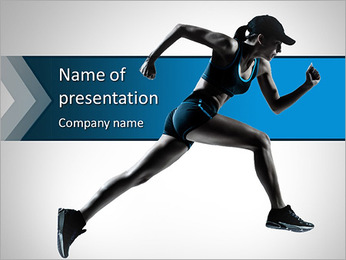 Professionell Runner PowerPoint presentationsmallar