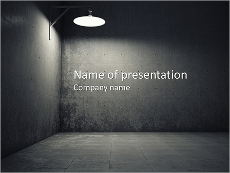 dark room powerpoint template & backgrounds id 0000007198, Modern powerpoint