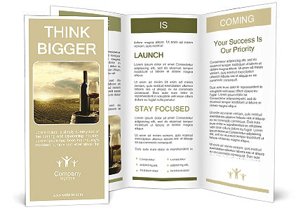 Best wine brochure template design id 0000007202 for Wine brochure template
