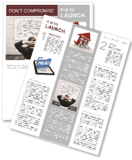 business plan project newsletter template design id 0000007203