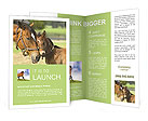 Horse With Foal Brochure Templates