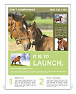 Horse With Foal Flyer Template