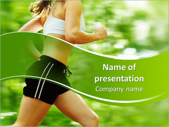 Jogging In Summer PowerPoint Template