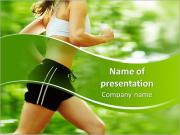 Jogging In Summer PowerPoint Templates
