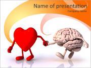 Coração Vs Cérebro Modelos de apresentações PowerPoint