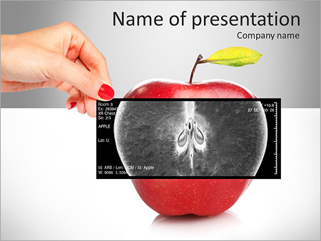 apple benefits powerpoint template & backgrounds id 0000007248, Presentation templates