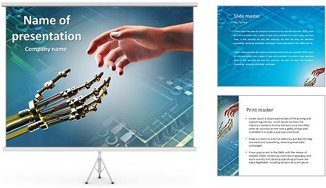 Human Vs Robot PowerPoint Template