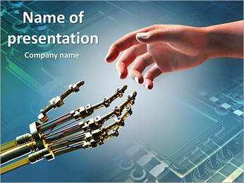 Human Vs Robot PowerPoint Template - Slide 1