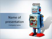 Забавный робот Шаблоны презентаций PowerPoint