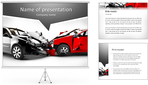 car accident powerpoint template backgrounds id. Black Bedroom Furniture Sets. Home Design Ideas