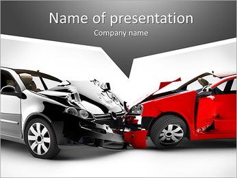 Accident de voiture Modèles des présentations  PowerPoint
