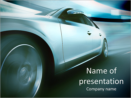 fast car powerpoint template & backgrounds id 0000007279, Modern powerpoint