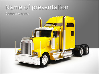 Huge Truck PowerPoint Template