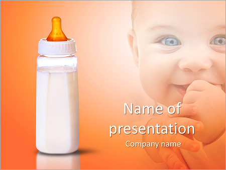 Baby milk powerpoint template backgrounds id 0000007287 baby milk powerpoint template toneelgroepblik Image collections