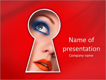 Spy Woman PowerPoint Template