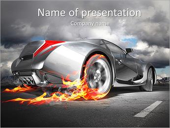 Dans la roue de la flamme Modèles des présentations  PowerPoint