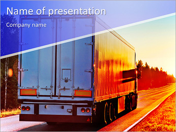 Truck Destination PowerPoint Template