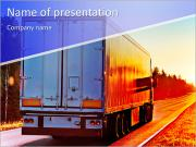 Truck Destination PowerPoint Templates