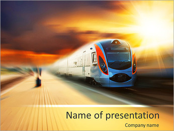 Modern Train PowerPoint Template