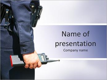 警官 PowerPointプレゼンテーションのテンプレート