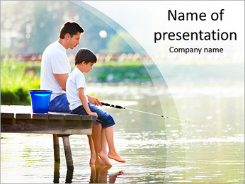 Family Fishing PowerPoint Template